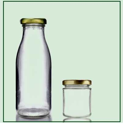 Glass Bottles/Jars with Stickers