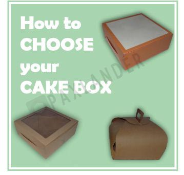 Different Type Of Cake Boxes